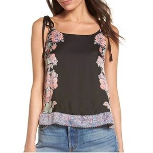 Intimately Free People Floral Beaded Tank Top